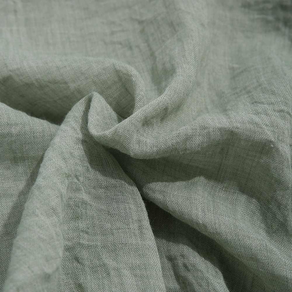 Vải lanh Áo Mùa Hè 2019 Nam Quần Áo Thoáng Khí Chắc Chắn Tay Dài Rời TEE Top Thể Dục Áo sơ mi Dạo Phố Nam áo