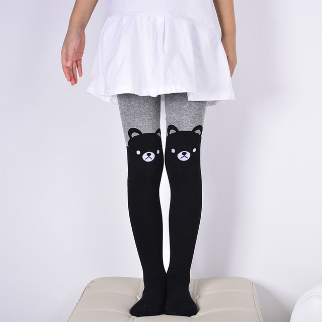 9359994b107 DreamShining Spring Baby Girls Tights Cartoon Cat Patchwork Children Girl  Pantyhose Stockings Soft Cotton Kids Warm
