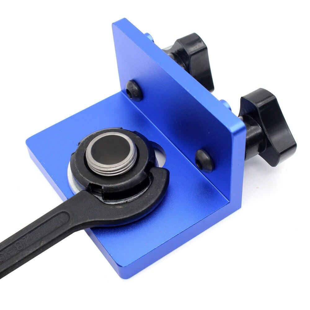 FAI DA TE Del Legno Tassello di Falegnameria Jigs Kit 3in1 localizzatore di Perforazione Perforazione Guida Tools Kit - 4