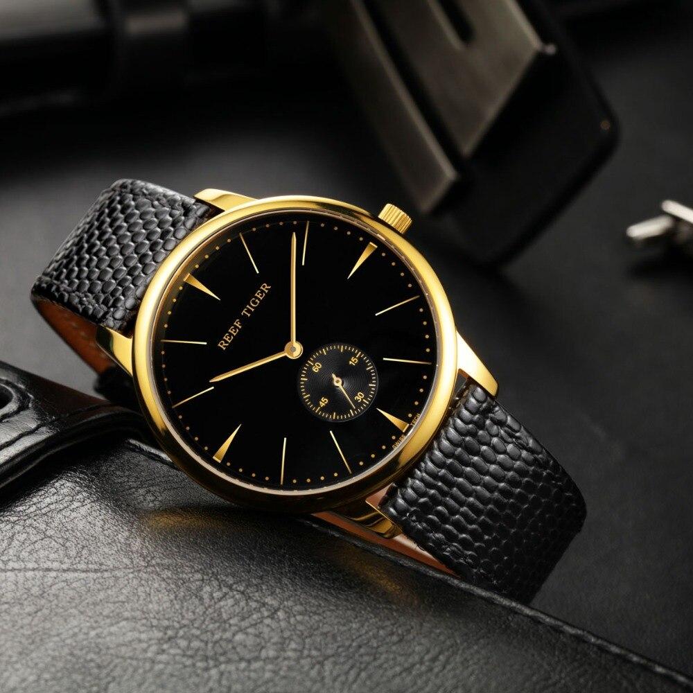 Reef Tiger luxury brand watches reloj mujer Swiss Classic clock men Vintage Quartz wristWatch Ultra Slim Design relogio feminino все цены