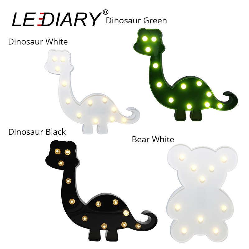 СВЕТОДИОДНЫЙ Красочный светодиодный ночник с животными, праздничный декор, фламинго единорог, динозавр, лебедь, жираф, альпака, прикроватная настольная лампа для детей