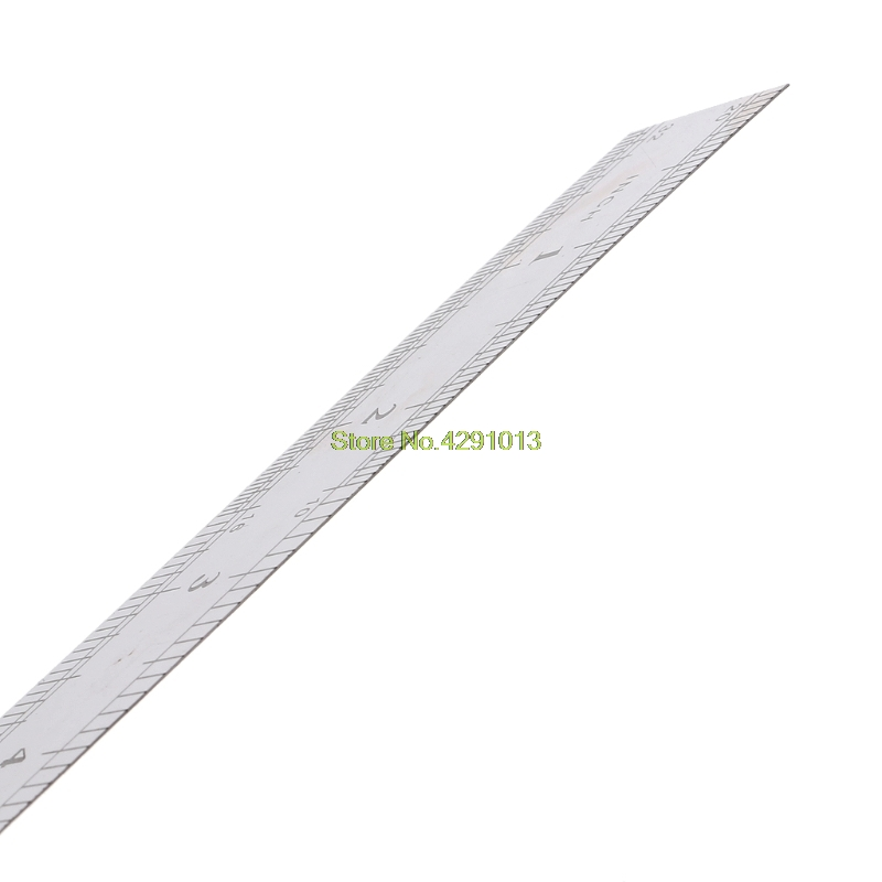 Stainless Steel Double Side Measuring Straight Edge Ruler 60cm Silver Drop Shipping Support