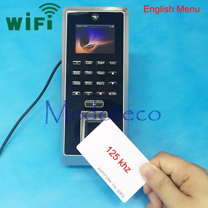 Wifi contrôle d'accès d'empreintes digitales contrôle d'accès de sécurité en option Menu arabe espagnol Rfid Wifi contrôleur d'accès de porte F20/F21