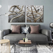 Landscape canvas print abstract painting tree modern art poster wall Pictures for living room folk custom ancient modern minimalist new chinese ink flower landscape abstract canvas painting for living room wall art poster