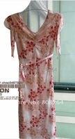 Free Shipping 2012 New Chiffon Dress Falbala V Neck Long Dress Wholesale Retail