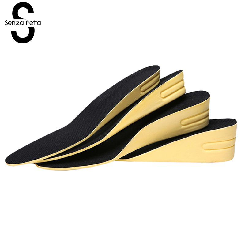 Height Increase Insoles for Men and Women up 20/30/40 mm High Quality Breathable Insole Inserts Pads Non-slip Insoles LDD0397 soumit add 2cm heights wearing socks massaging insole ergonomic height increasing breathable comfort insoles for men and women