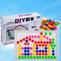 Creative Mosaic Mushroom Nail  Puzzle Toys Educational Toy Nail Composite Picture Puzzle Toy Gift for Children  96pcs