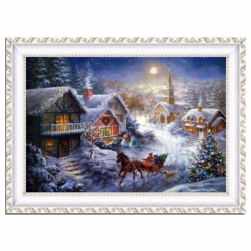100% diy 5d diamant mosaik weihnachten handgemachte diamant malerei - Kunst, Handwerk und Nähen