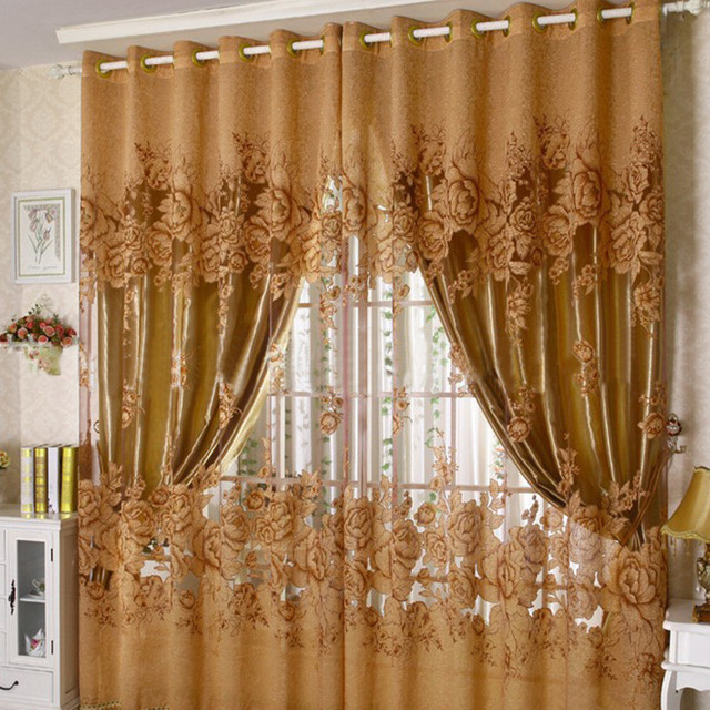 Modern Semi Blackout Curtains Blind Panel Fabrics Window Purple Curtain  Window Blackout Curtains For Bedroom