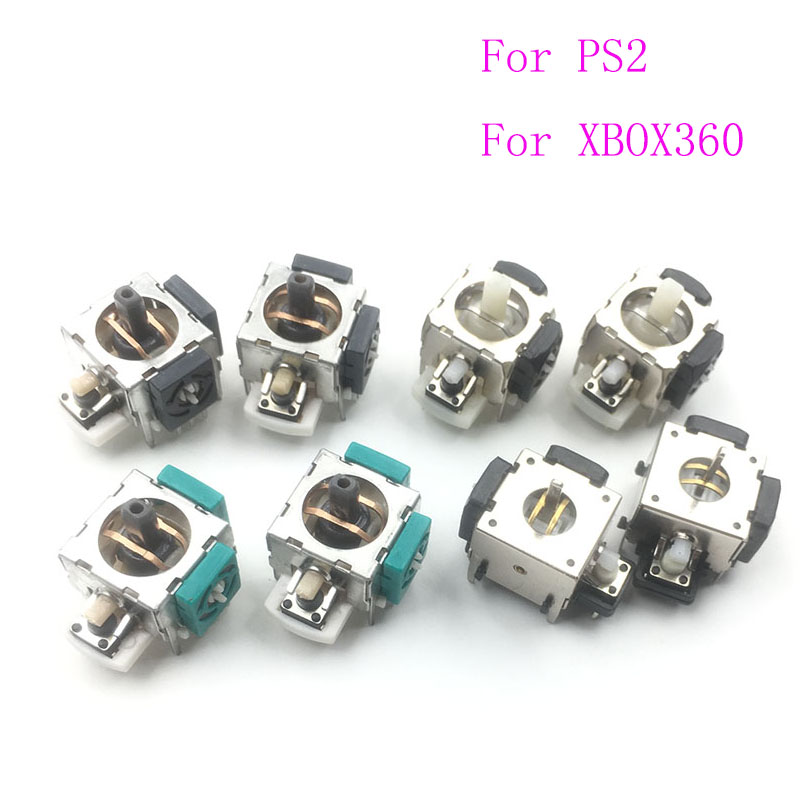 100PCS For Sony PS2 3D Analog Stick Sensor Joystick Handle Replacement For XBOX 360