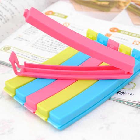 Hot Sale Kantong Plastik Klip Alat Dapur Penyimpanan Makanan Ringan Segel Segel Tas Klip Sealer Clamp Plus Ukuran Acak Warna