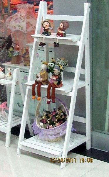 Decoratie ladder hout afbeelding van landelijke houten for Goedkope decoratie