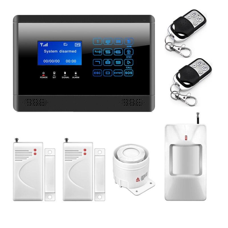 все цены на  Upgrade Vision 433MHZ GSM SIM Autodial Home Alarm System LCD Touch Keypad Home Protection Alarm Russian/English Language M2BX  онлайн