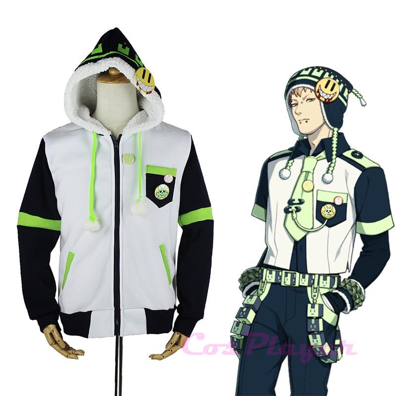 KIGUCOS DRAMAtical Murder Character Noiz Cosplay Costume Berber Fleece Hoodie Overcoat Jacket