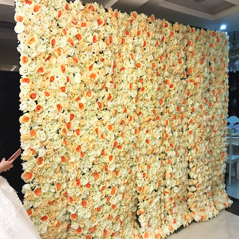60x40 cm-es mesterséges virágfala háttér Esküvői alapanyagok kellékek fali dekoráció Arches selyem virág rózsa bazsarózsa ablak stúdió