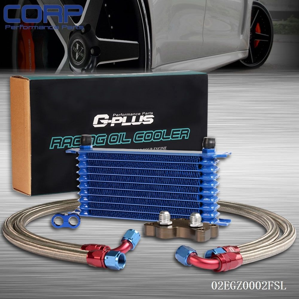 ФОТО 10 Row Engine Oil Cooler Relocation Kit For BMW MINI COOPER SUPERCHARGER R53