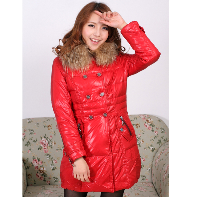Winter Jacket Women Large Fur Collar Slim Women Coats Female Women's Jackets Warm High Quality Coat