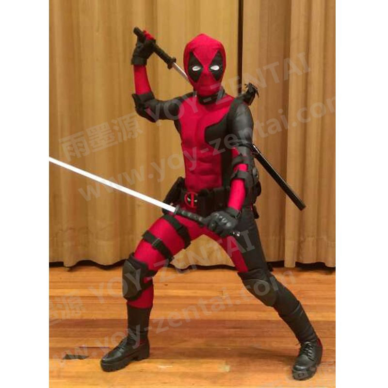 High Quality Muscle Deadpool Costume Adult Muscle Padding Deadpool Spandex Suit