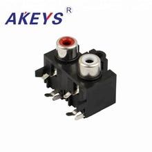 20PCS AV2-8.4-16 Factory Price 6Pin RCA Connector Female Panel Mount Socket AV concentric socket