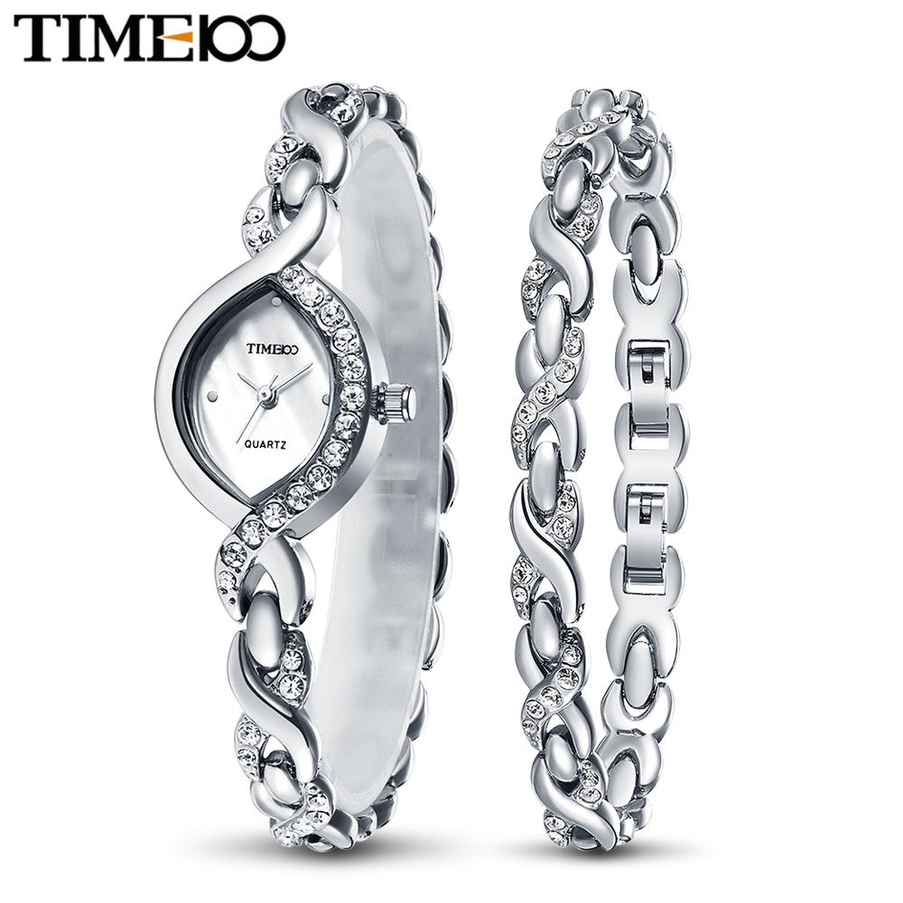 Prix pour Time100 Élégance Femmes Bracelet Montres À Quartz-Montre Étanche Bijoux Argent Alliage Shell Petit Cadran Femelle Poignet Montres Cadeau