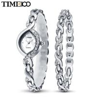 New Arrival Time100 Luxury Brand Multifunction Jewelry Clasp Alloy Rhinestone Women Quartz Dress Bracelet Watches W50119L