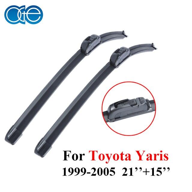 Oge par parabrisas limpiaparabrisas para toyota yaris 1999-2005 par parabrisas limpiaparabrisas accesorios del coche de goma de silicona