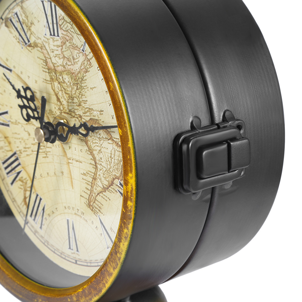 2017 double sided european retro style durable alarm clock with 2017 double sided european retro style durable alarm clock with world map living room office restaurant home decoration in alarm clocks from home garden gumiabroncs Image collections