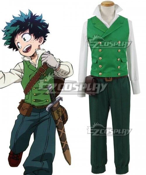 Mon héros académique Boku pas de héros Akademia ED Izuku Midoriya Deku Cosplay Costume E001