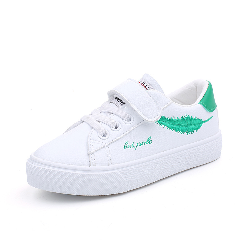 Kids Shoes Boy 2018 Autumn Children Sneakers Fashion Leaf Kids Girls Boys White Shoes Soft School Shoes Children Trainers