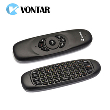 2 4GHz C120 Fly Air Mouse Russian English Rechargeable font b Mini b font Wireless Keyboard