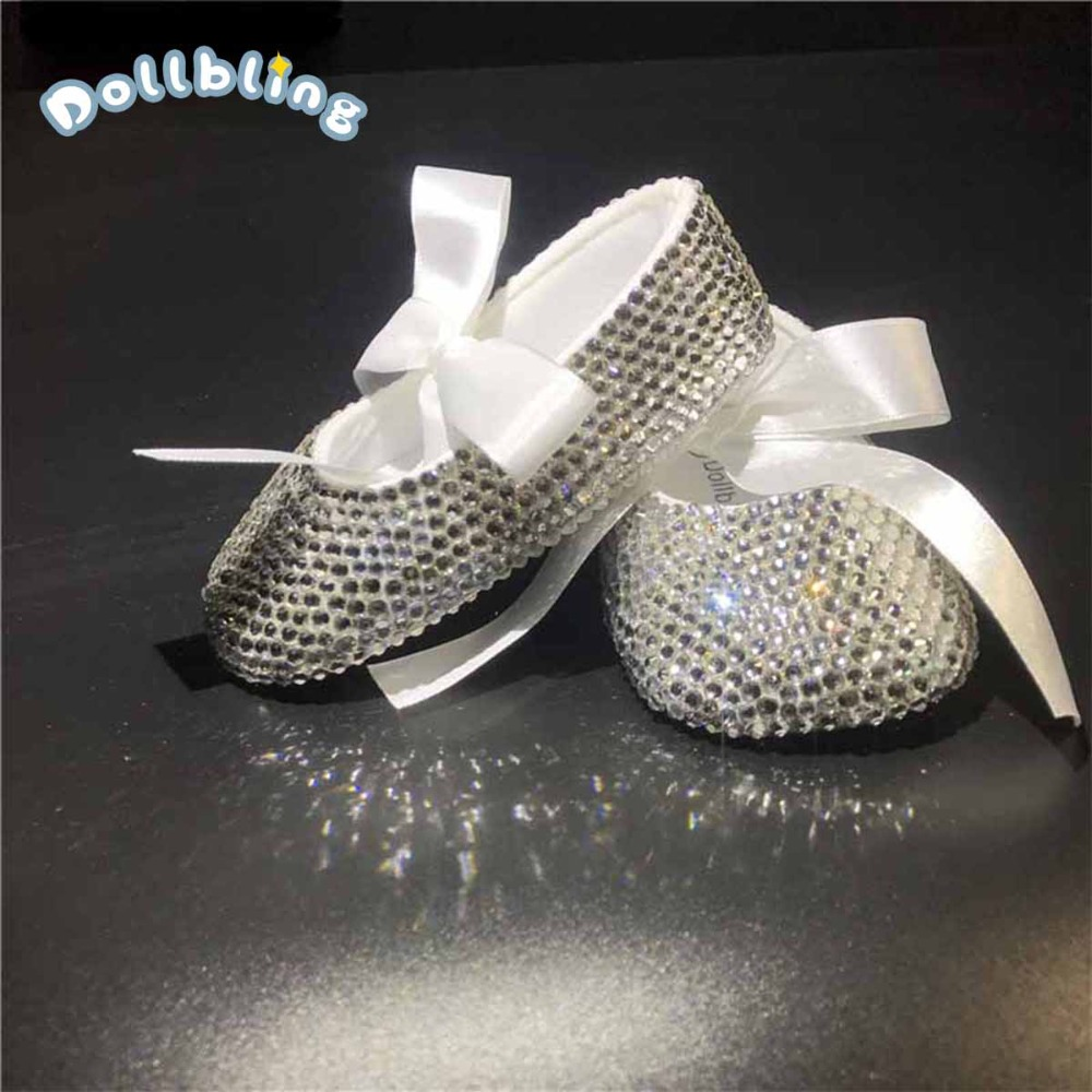 Rhinestones DMC most Sparkle Glitter Shoes Slippers Baby Shoes Girl Crystal Rhinestone Star Bling Party show 0-6 Ballerinas