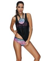 3pcs/set Secret Biquini Vintage Suittop Reversible Large size swimwear Sports crop 2017 May Beach Indoor Swimsuit Seafolly
