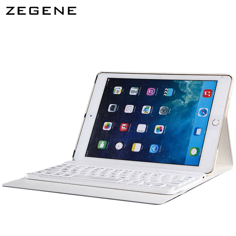 Case For ipad Air1/Air2  9.7 inch Bluetooth Keyboard 360 Degree Rotation Cover Shell Removable Ultra-thin Protective Case Skin ultra slim 360 degree rotation russian hebrew spanish wireless bluetooth keyboard case for apple ipad mini 1 2 3 7 9 tablet