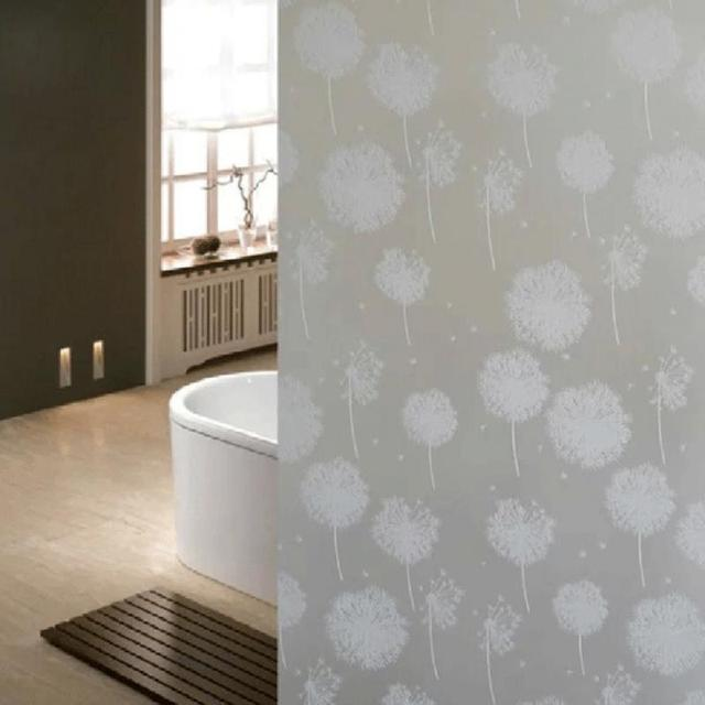 2M Length Waterproof Dandelion Frosted Privacy Home Bedroom Bathroom Window  Glass Film Sticker