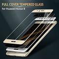 Cobertura completa protetor de tela de vidro temperado para huawei honor 8 9 h 2.5d 0.33mm silk imprimir autoadesivo filme vidro de proteção