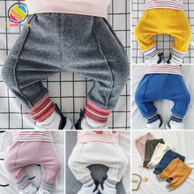 Lemonmiyu Newborn Pants For Babies Cotton Casual Lucky Children Leggings Harem Baby Boys Girls Spring Autumn Long Trousers lemonmiyu long infants boy trousers elastic waist cotton baby jeans full length pants newborn cartoon mid casual spring pants