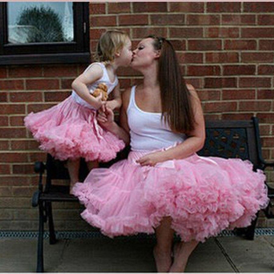Bērnu un māšu tutu svārki meitene pettiskirt Ģimenes - Bērnu apģērbi