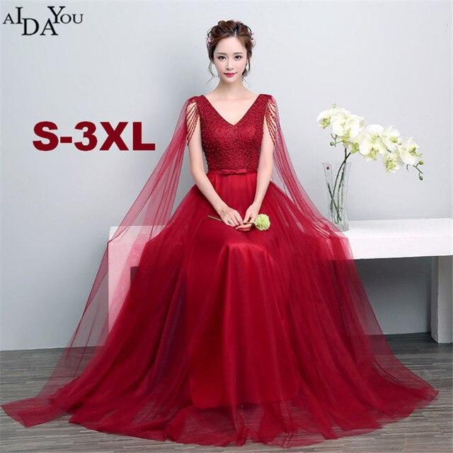 Frauen Rot Schlank vestido Abend lange netz Kleider bodenlangen ...