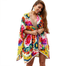 2019 Summer Beach Shawl Boho Style Tippet Bohemian Women Dress For Holiday Party