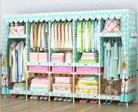 50 setes solid wood wardrobe easy assembled wardrobe length 210 cm|Storage Boxes & Bins|Home & Garden -