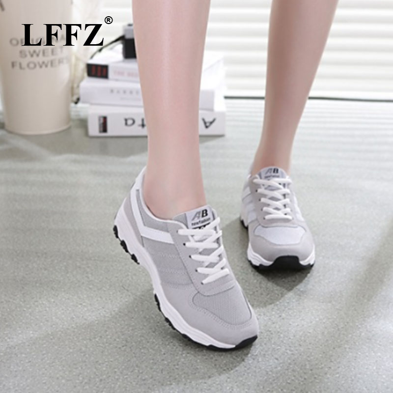 LFFZ Sneakers Women New Breathable Spring Casual Shoes Basket Flats Female Platform Shoes Trainers Shoes ZLL148 цена