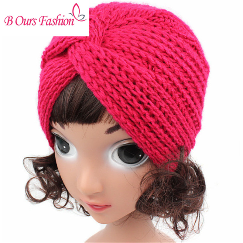 wool knitted handmade solid hat style children wimter headwrap hairband hair accessories girls beanies headwrap brand winter hat knitted hats men women scarf caps mask gorras bonnet warm winter beanies for men skullies beanies hat