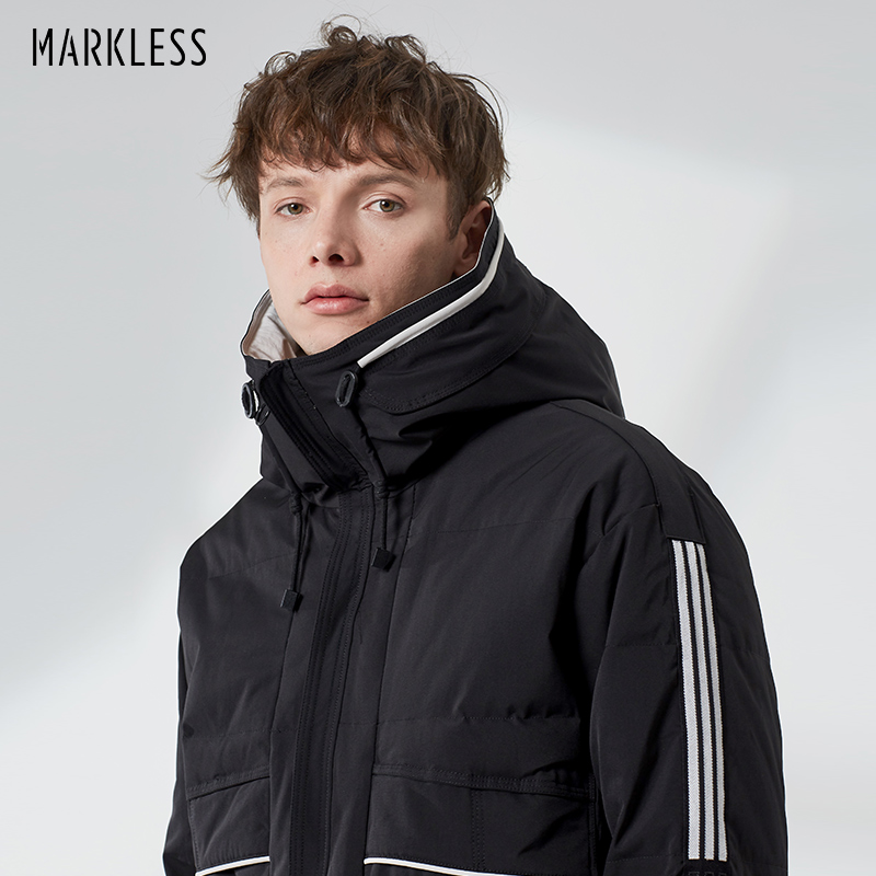 Markless 90% White Duck   Down   Jacket Men 2018 Winter Thick Warm Hooded Parkas Windproof Loose   Down     Coats   YRA8317M