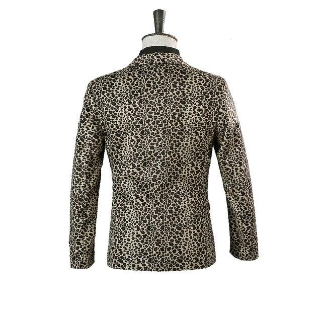 Фото костюм леопардовый для мужчин ночной клубный костюм певицы барной