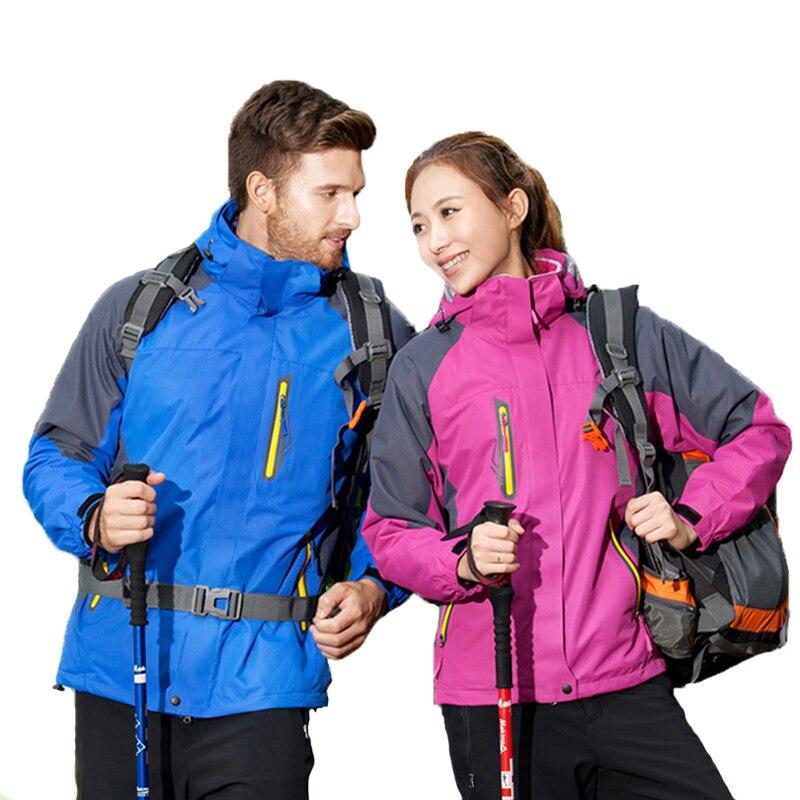 2019 hommes automne hiver randonnée en plein air veste imperméable coupe-vent manteau thermique femmes Camping Trekking escalade vestes deux ensembles