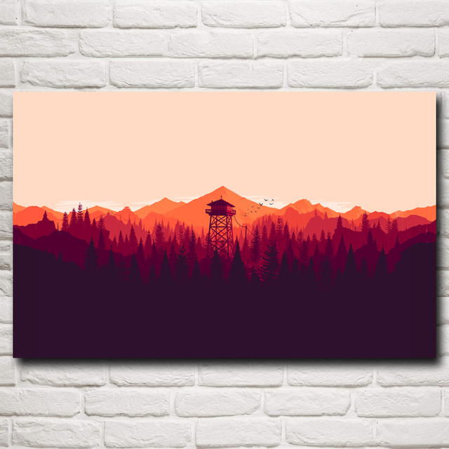 Firewatch Video Games Mountains Minimalism Forest Art Silk Poster Home Decor Printing 12×19 15×24 19×30 22×35 Inch Free Shipping