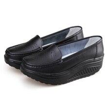 Платформе медсестра клинья одной качели туфли натуральная работы обуви лето женская