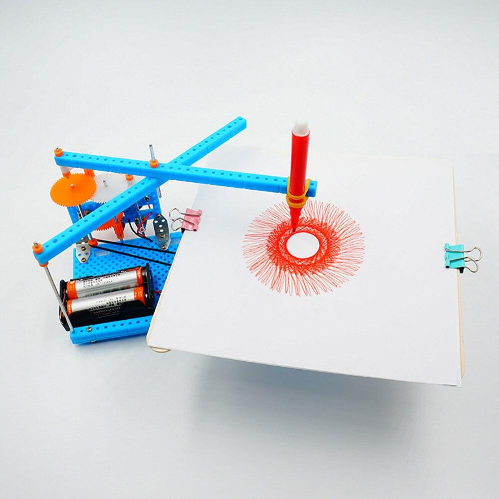 Neue DIY Elektrische Plotter Zeichnung Roboter Kit Physik Wissenschaftliche Experiment Set Kreative Erfindungen Montieren Modell zeichnung spielzeug