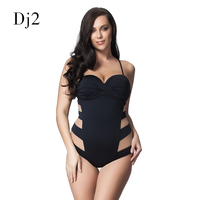 Sexy Transparent Mesh Plus Size Swimwear Women One Piece Bandeau Swimsuit Push Up Bathing Suit High