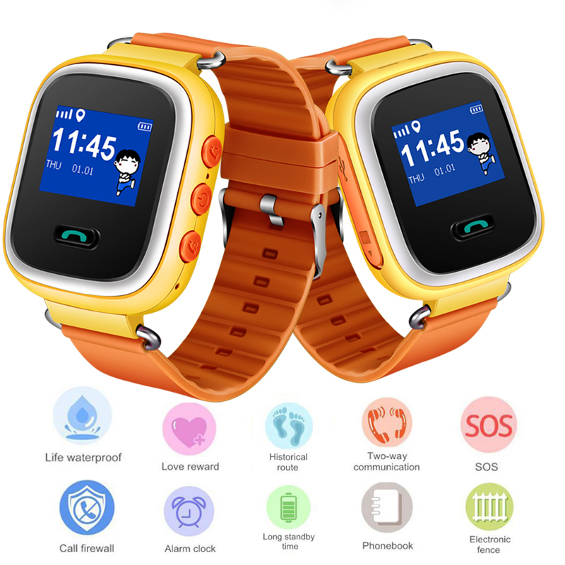 LIGE 2019 New Children Baby Smart Watch Large Capacity Battery Positioning LBS Tracker Support SIM Card Kid Smartwatch+Box